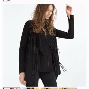 Zara fringe sweater- new!🌸
